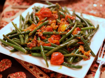 Healthy Provencal Green Beans
