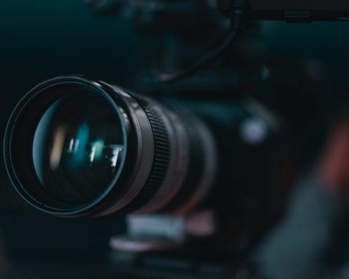 macro photo of camera